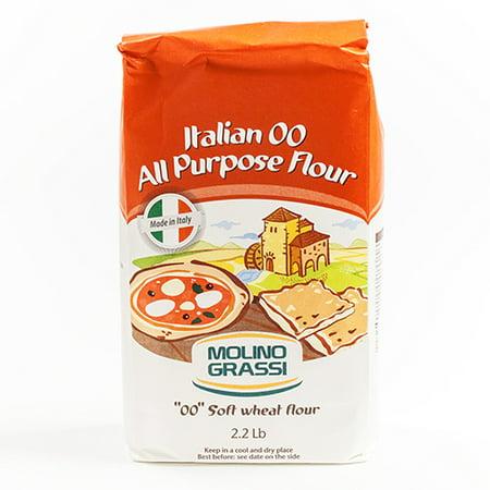 Italian 00 All Purpose Flour by Molino Grassi (2.2 pound)