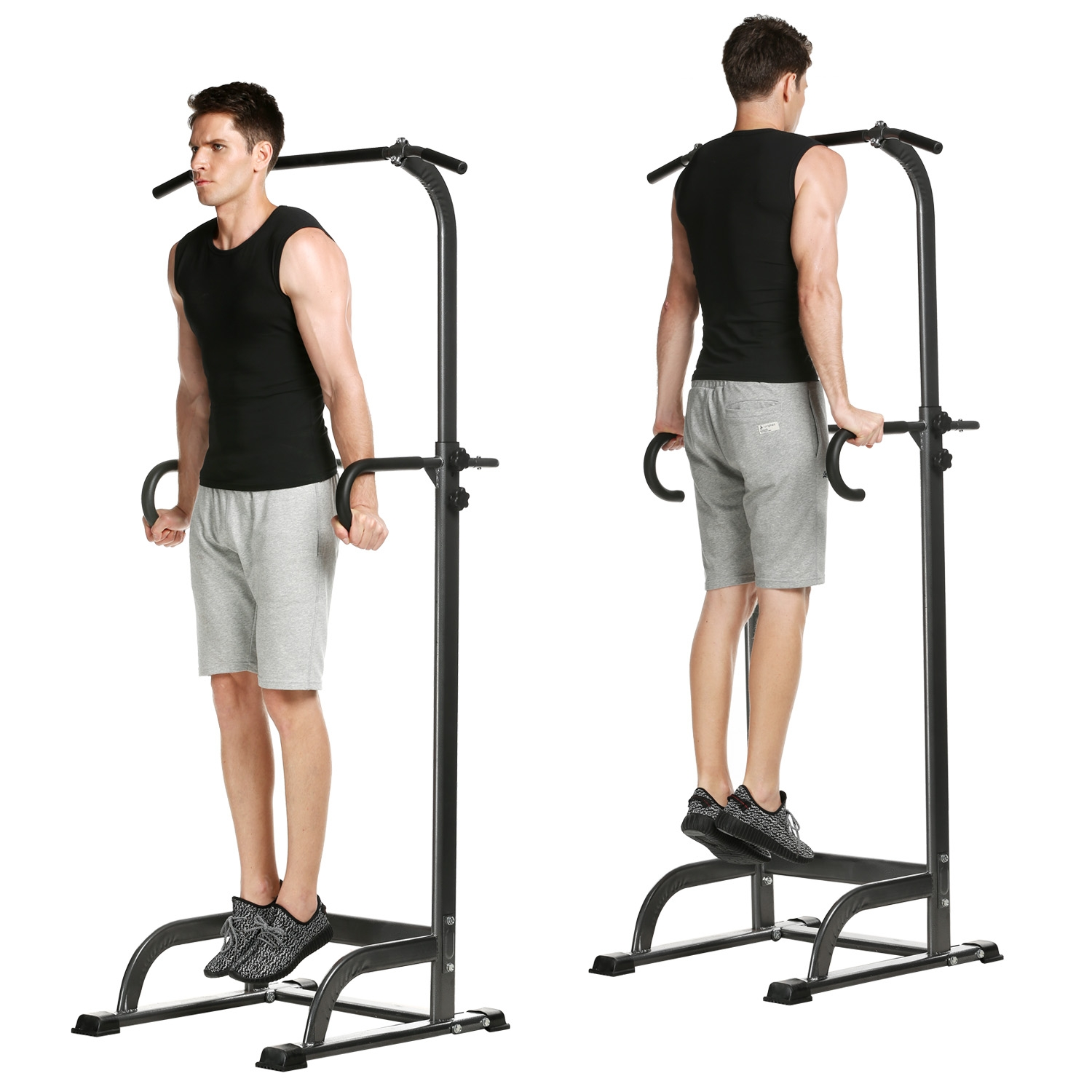 Adjustable New Power Tower Indoor Home Chin Up Pull Up Ba...