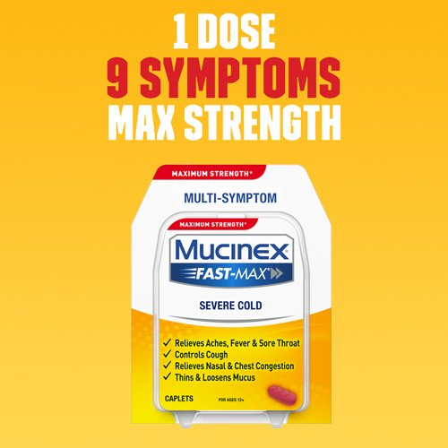 Mucinex Fast Max Severe Cold Caplets 20ct Walmart