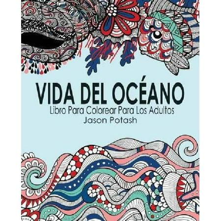 Vida Del Oceano Libro Para Colorear Para Los Adultos