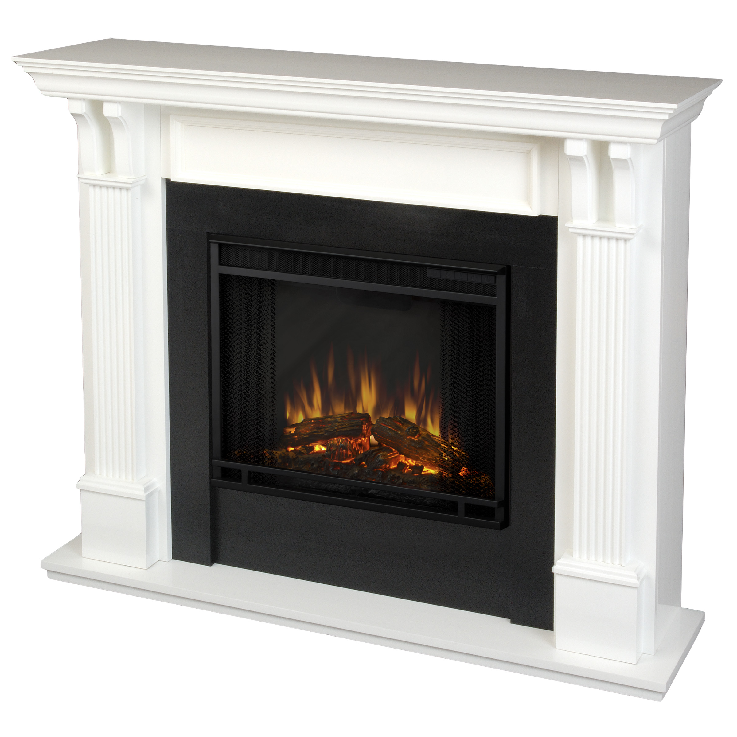Ashley Indoor Electric Fireplace In White By Real Flame Walmart Com