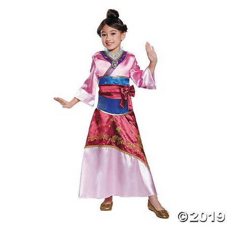 Girl's Deluxe Disney® Mulan Costume - Extra Small - Mulan Costumes