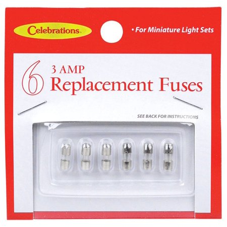 Celebrations 1267 71 Replacement Fuse 3 Amp White Glass