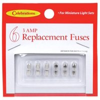 product image celebrations 1267-71 replacement fuse, 3 amp, white, glass