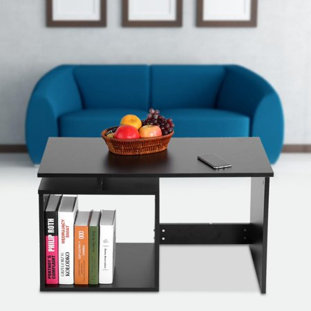 TOPINCN Modern Stylish Coffee Tea Table Living Room Tables with Base  Storage Shelf,Living Room Table,Storage Table