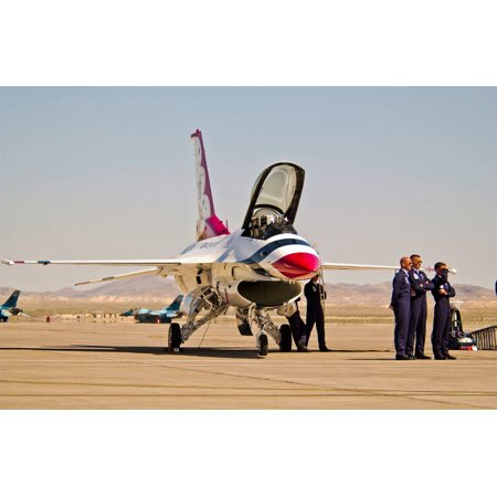 An F-16A Fighting Falcon of the US Air Force Thunderbirds Poster Print by Scott GermainStocktrek Images - F-16a Fighting Falcon
