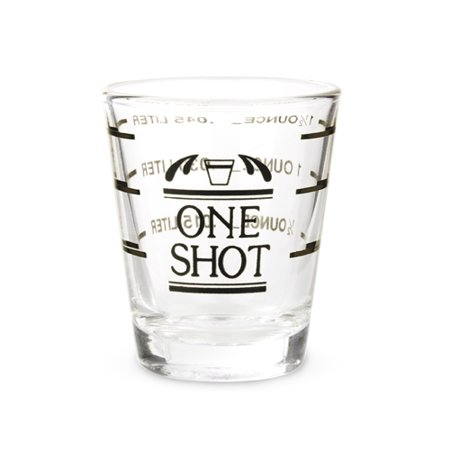 True Bisque Glass - TRUE Bullseye: Measured Shot Glass