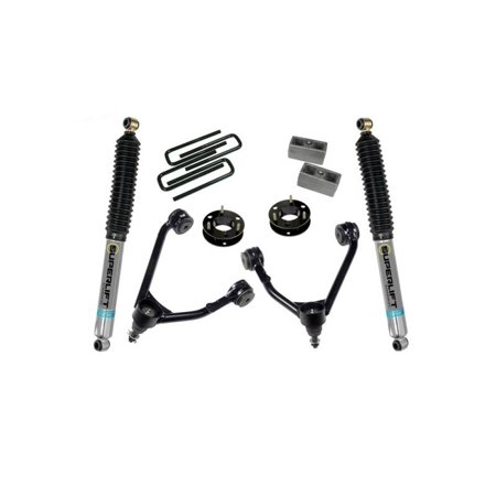 SUPERLIFT 2007-2016 Chevrolet Silverado Gmc Sierra 1500 Lift Kit 3.5 Inch Cast Steel Upper Arm 2Wd Bilstein