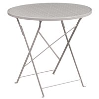 "Flash Furniture 30"" Round Indoor-Outdoor Steel Folding Patio Table, Multiple Colors"