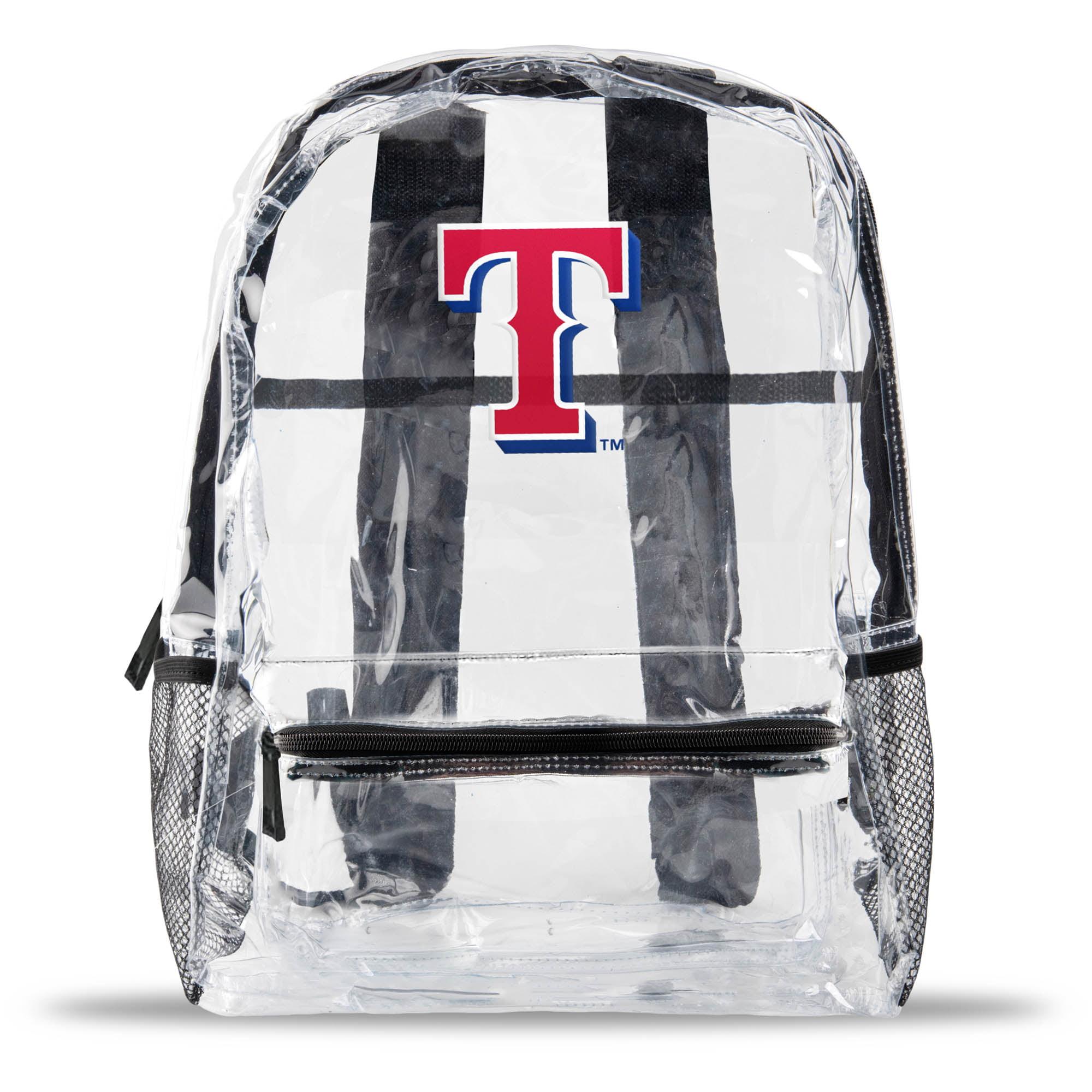 Texas Rangers Team Logo School Clear Bag - No Size