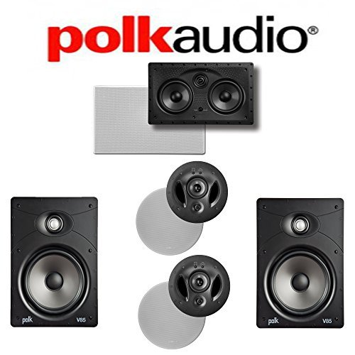 Polk Audio 900-LS + Polk Audio V85 + Polk Audio 255C-LS 5.0 Vanishing Series In-Wall   In-Ceiling Home Theater System by Polk Audio