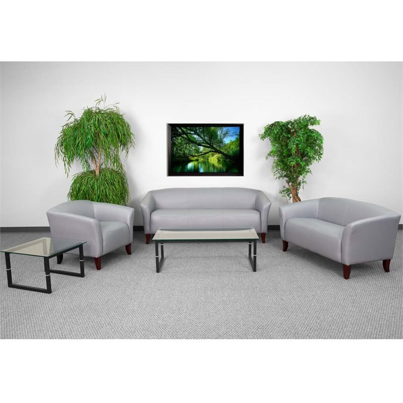 Flash Furniture HERCULES Imperial Series Reception Set in Gray