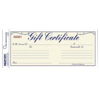 Rediform, RED98002, Gift Certificates with Envelopes, 25 / Pack, Blue