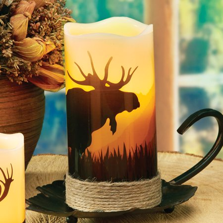 Moose LED Candle - Rustic