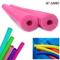 "2 Pack Jumbo Swimming Pool Noodles 56"" x 3"" Foam Floatie Therapy Multi-Purpose"