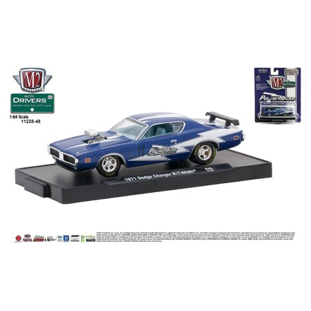 M2 Machines Auto-Drivers 1:64 R48 1971 Dodge Charger R/T HEMI - (Powerhouse) Dodge Charger Hemi Engine