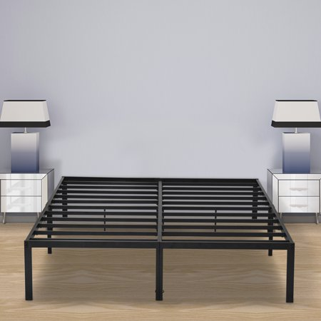 Granrest 14 Innovative Metal Platform, Iron Platform Bed Queen