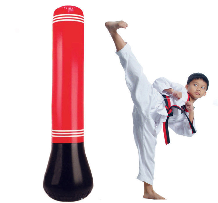 Punching Bag for Kids, HERCHR 65in Free Standing Inflatable Puching Bag Bundle - Stand Alone Childrens Boxing Punching Bag Stand up - Kick Boxing Bag for Toddler Sport Fitness Training