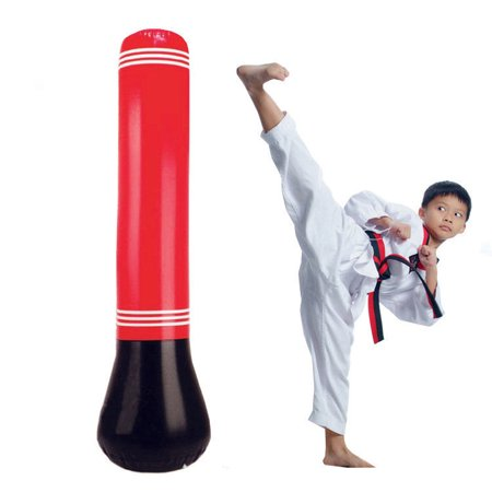 Punching Bag For Kids Herchr 65in Free Standing Inflatable Puching Bundle Stand Alone Childrens Boxing Up Kick