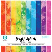 "Colorbok 12"" Bright Splash Watercolor Paper Pad, 30 Piece"
