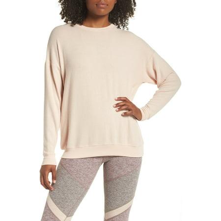 Crewneck Sweaters - Womens Long Sleeve Stretch Crewneck Sweater XS