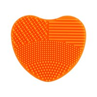 FAGINEY 7Colors Makeup Brush Cleaner Silicone Heart Glove Cleaning Cosmetic Board Washing Scrubber, Cosmetic Cleaning Tool, Glove Scrubber