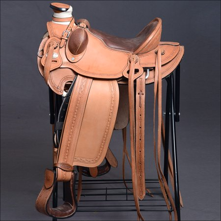 HILASON BIG KING HERMANN OAKS LEATHER WESTERN WADE RANCH ROPING COWBOY  SADDLE 16