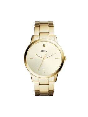 9e799a2e86a2 Fossil Men s Minimalist Carbon Series Gold Tone Stainless.