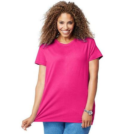 90563030248 Cotton Jersey Short-Sleeve Scoop-Neck Womens Tee Shirt - B5, 4X