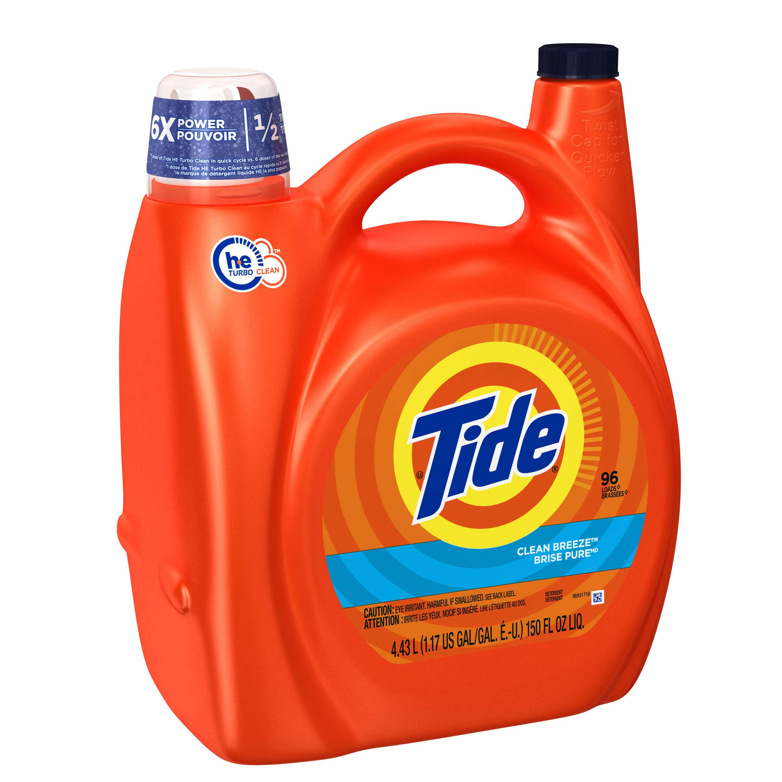 Wash Clothes Liquid Detergent: Tide 2x Ultra For He Machines Clean Breeze Liquid Laundry