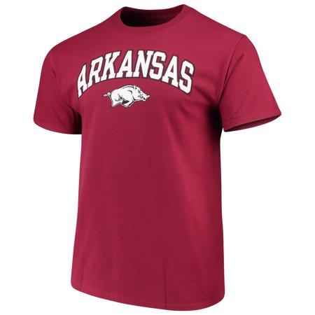 Men's Russell Cardinal Arkansas Razorbacks Crew Core Print T-Shirt