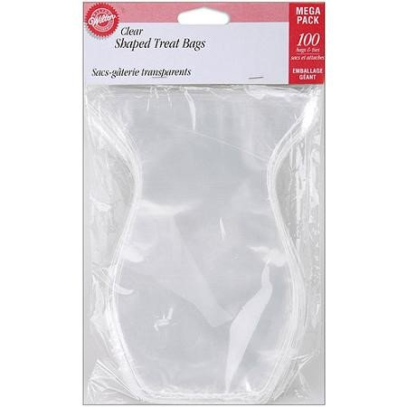 Wilton Clear Shaped Treat Bags, 100-Count (Treat Bag)
