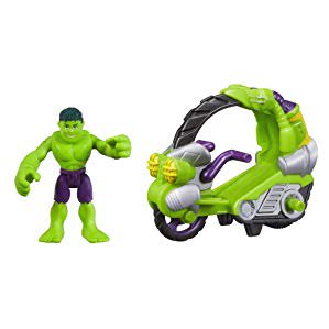 Playskool Heroes Marvel Super Hero Adventures Hulk Figure with Tread Racer (Hulk Attack Vehicle)