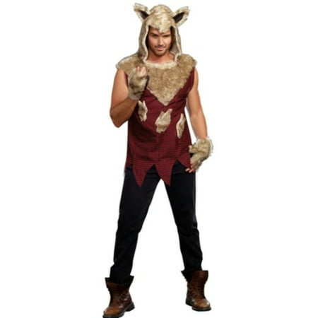 Mens Big Bad Wolf Costume 9493 by Dreamgirl - Big Bad Wolf Onesie