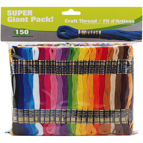 Craft Thread Super Giant Pack, 9.14m, 150pk, Assorted Colors