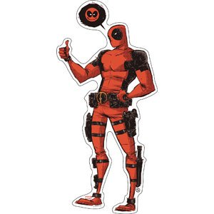 Sticker - Marvel - Deadpool - Thought Bubble New Toys Licensed s-mvl-0060](Deadpool Merchandise)
