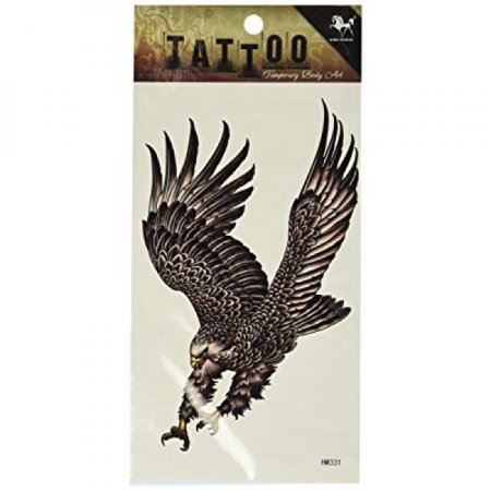 Eagle Wings Tattoos (GGSELL King Horse Waterproof tattoo stickers personalized men tattoo stickers eagle wings)
