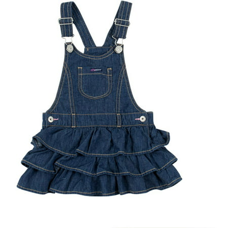 25f134ab73 Jordache - Baby Toddler Girl Denim Ruffle Skirt-Alls - Walmart.com