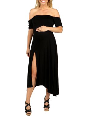 Star Sweep Off Shoulder Maternity Dress