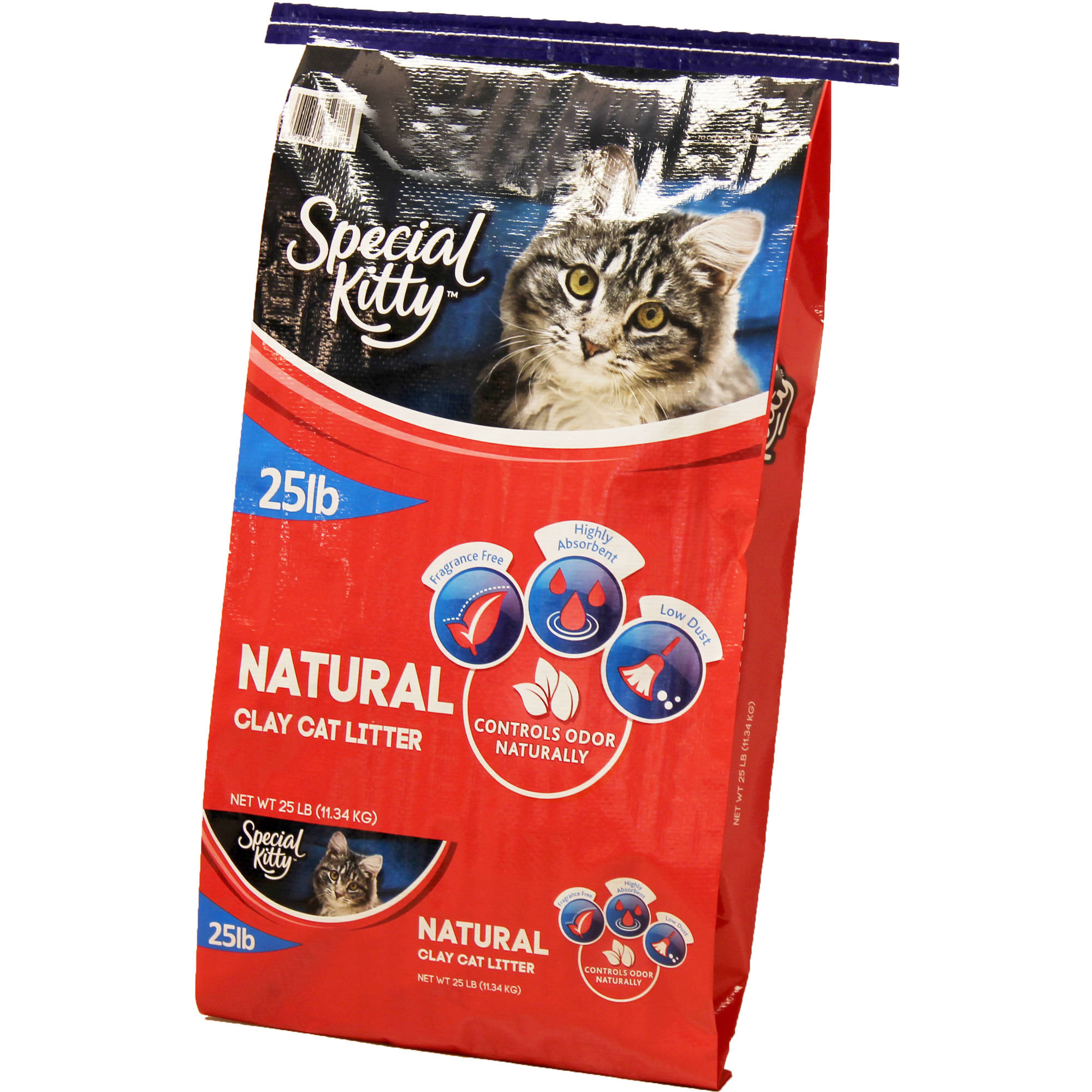 Special Kitty Unscented Natural Clay Cat Litter, 25 lb