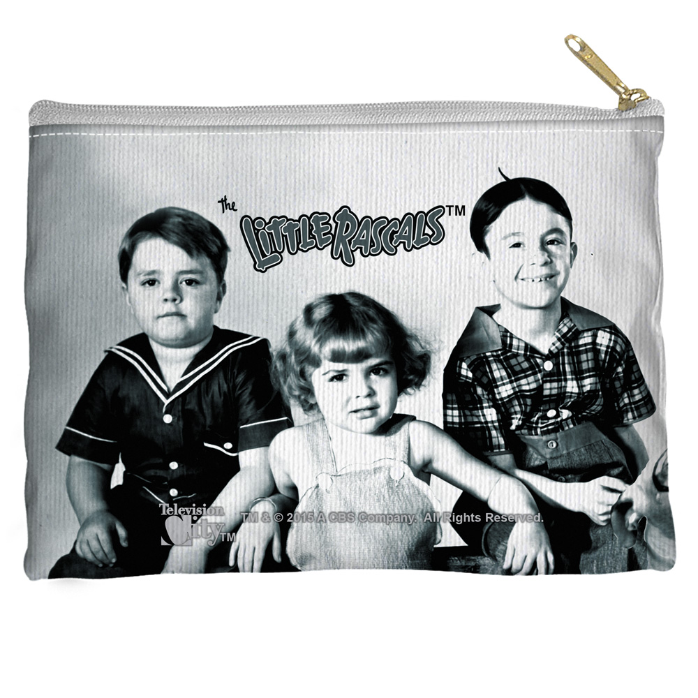 Little Rascals The Gang Accessory Pouch White 8.5X6