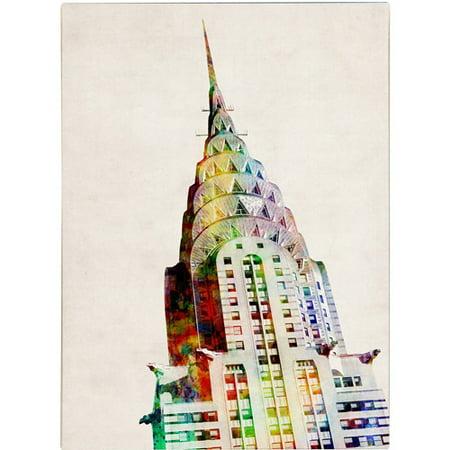 Trademark Art 'Chrysler Building' Canvas Art by Michael Tompsett