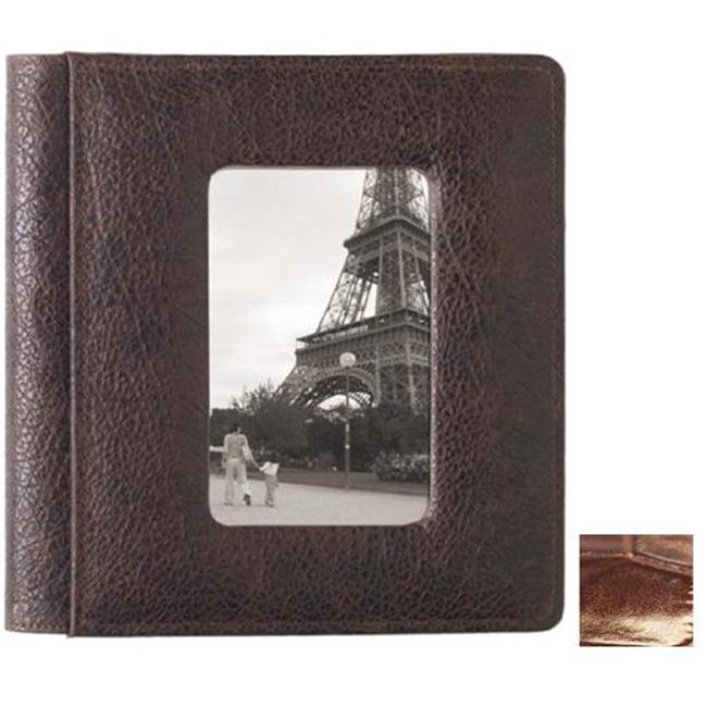 Raika NI 170 BROWN Frame Front Scrapbook Album - Brown
