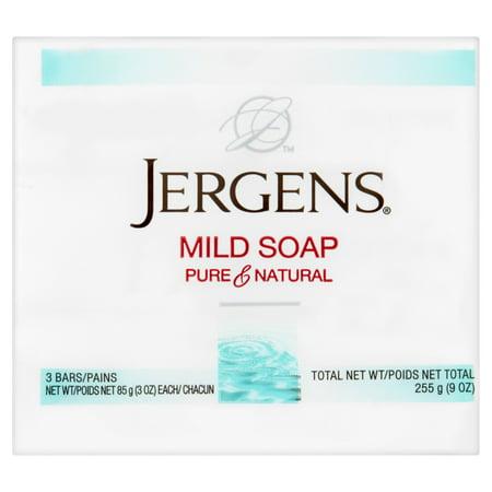 Jergens Pure   Natural Mild Soap  3 Oz  3 Pack