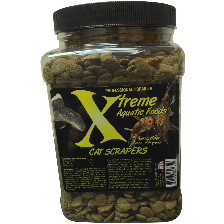 Xtreme Aquatic Cat Scrapers Sinking Algae Wafers Fish Food, 35 oz