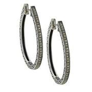 MARC Sterling Silver asite Oval Hoop Earrings
