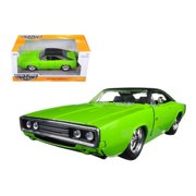 1970 Dodge Charger R/T Green 1/24 Diecast Model Car by Jada
