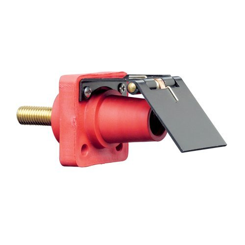 Leviton RED 16 Series Cam Male Receptacle Panel Mount 400 Amp Threaded Stud