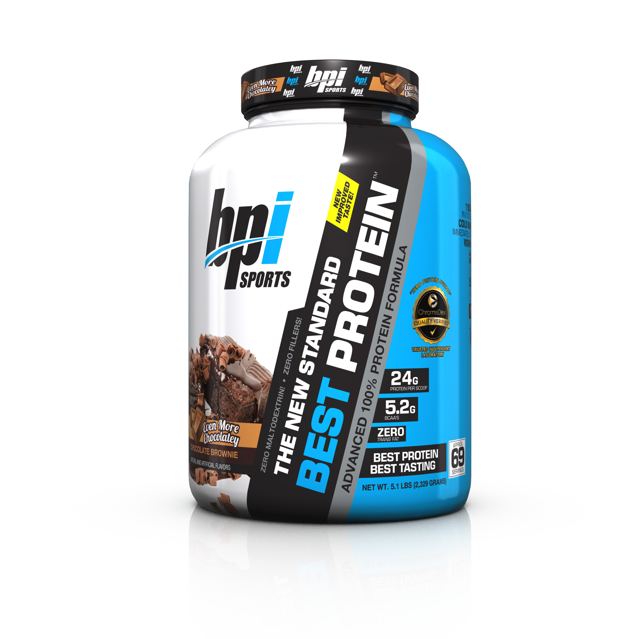 BPI Sports Best Protein Protein Chocolate Brownie, 69 Servings