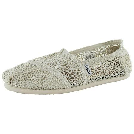 2e2dce0146c TOMS - Womens Classic Crochet Slip On Alpargata Shoe - Walmart.com
